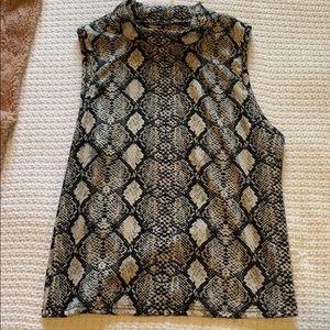 Snake print top